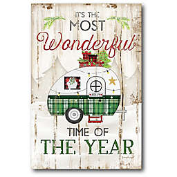 Courtside Market® Most Wonderful Time 18-Inch x 12-Inch Canvas Wall Art
