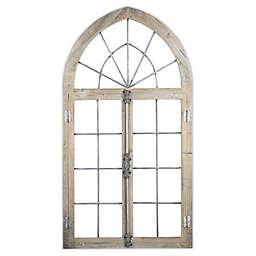 Arched Window Door Wall Art in Brown