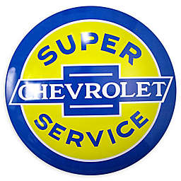 Chevy Metal Art in Blue/Yellow