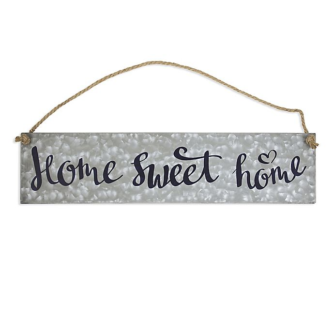 Alternate image 1 for Home Sweet Home Metal Sign Wall Art