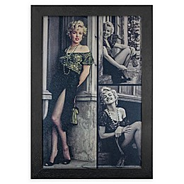 Marilyn Monroe Green Dress 13-Inch x 19-Inch Framed Wall Art
