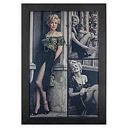 Marilyn Monroe Green Dress 13-Inch x 19-Inch Framed Wall Art