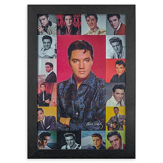 Alternate image 1 for Vintage Elvis Presley 13-Inch x 19-Inch Framed Print
