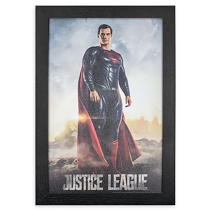 Alternate image 1 for Masterpiece Art Gallery Justice League Superman 13-Inch x 19-Inch Framed Print Wall Art