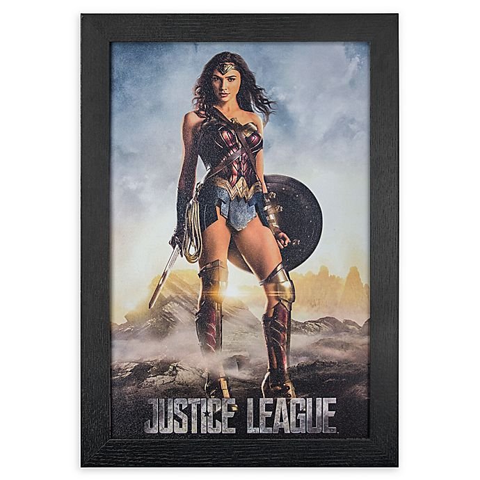 Alternate image 1 for Masterpiece Art Gallery Justice League Wondar Woman 13-Inch x 19-Inch Framed Print Wall Art
