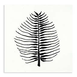 Monochromatic Feather 30-Inch Canvas Wall Art