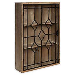 Kate and Laurel™ Megara Decorative Curio Wall Cabinet in Natural