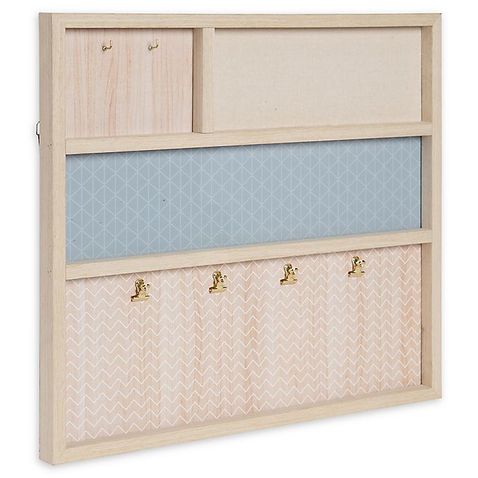 Alternate image 1 for Kate and Laurel Calley Multi-Function Wall Organizer in Natural
