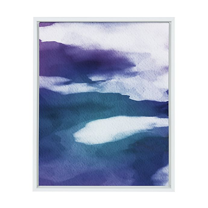 Alternate image 1 for Kate And Laurel Violet Abstract 18-Inch x 24-Inch Framed Wall Art