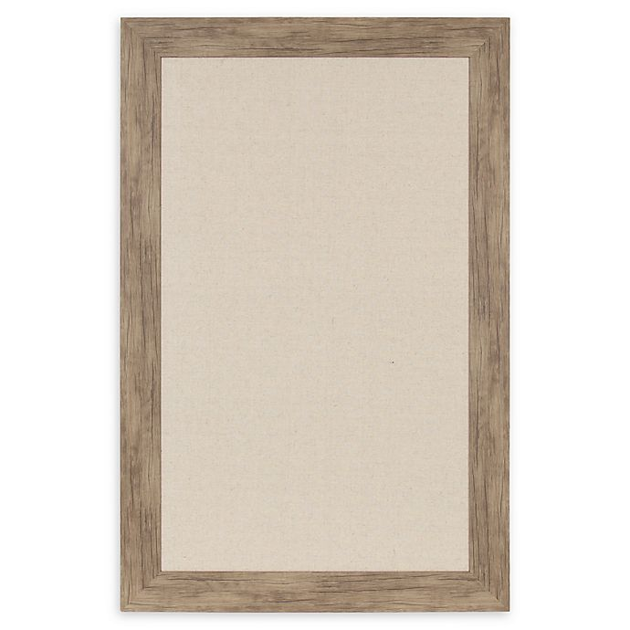 Alternate image 1 for Beatrice 29.5-Inch x 45.5-Inch Framed Linen Pinboard in Rustic Brown