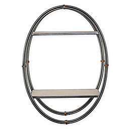 Masterpiece Art Gallery 23-Inch x 16-Inch Wood and Metal Oval Hanging Wall Shelf