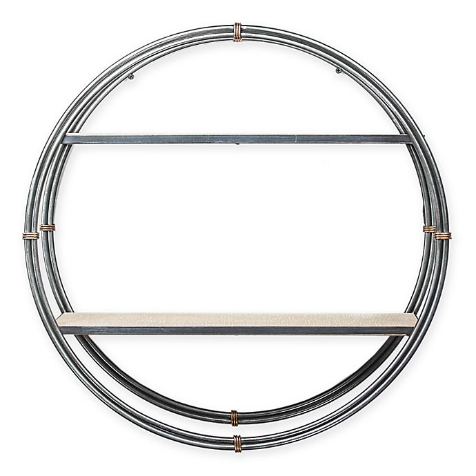 Alternate image 1 for Masterpiece Art Gallery 21-Inch x 21-Inch Wood and Metal Round Hanging Wall Shelf