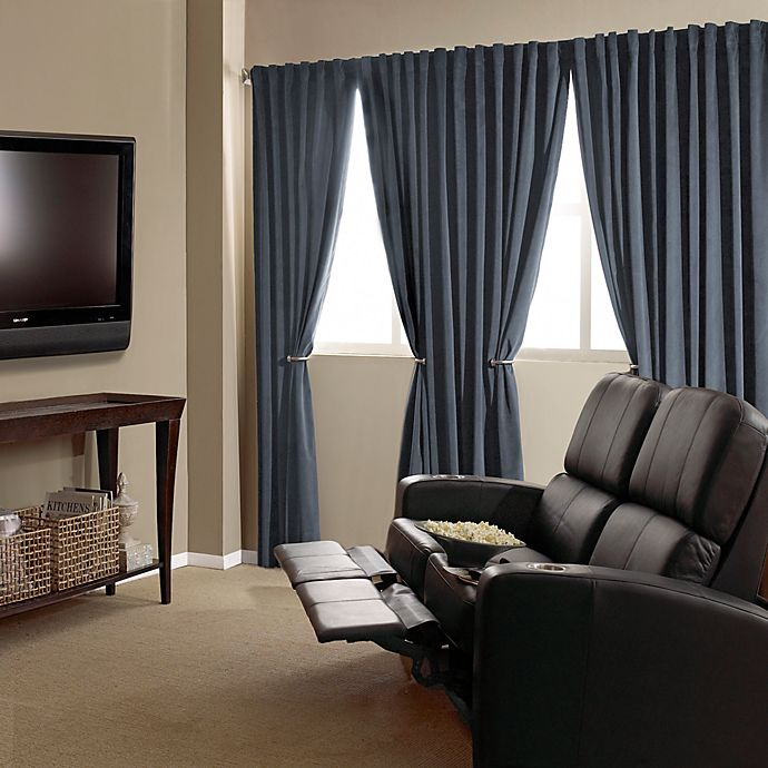 Alternate image 1 for Absolute Zero Velvet Blackout Home Theater Curtain Panels
