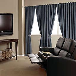 Absolute Zero Velvet Room Darkening Home Theater Curtain Panels (Single)