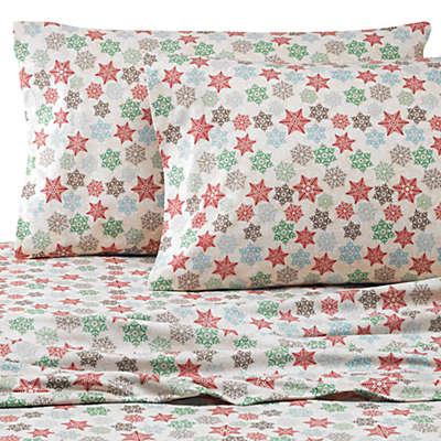 Micro Flannel® Printed Snowflake Sheet Set