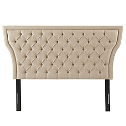 Madison Park Menlo Queen Upholstered Headboard in Taupe