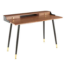 Lumisource Harvey Writing Desk in Walnut