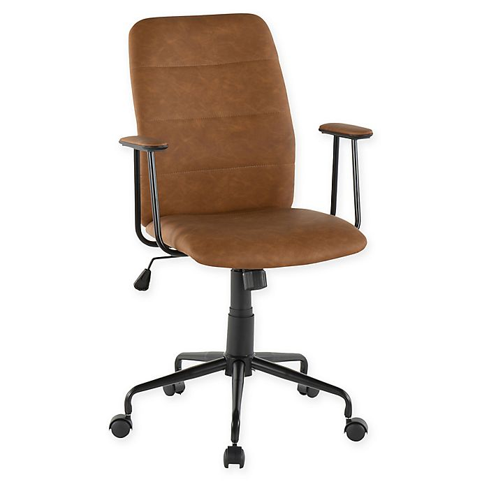 Alternate image 1 for Lumisource® Faux Leather Swivel Fredrick Office Chair in Black
