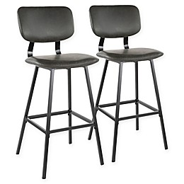Lumisource® Faux Leather Foundry Bar Stools (Set of 2)