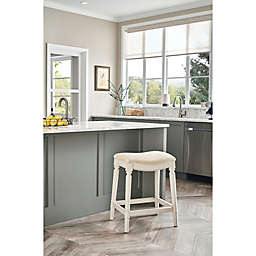 Bee & Willow™ Home Normandy 26-Inch Backless Saddle Counter Stool in White Wash