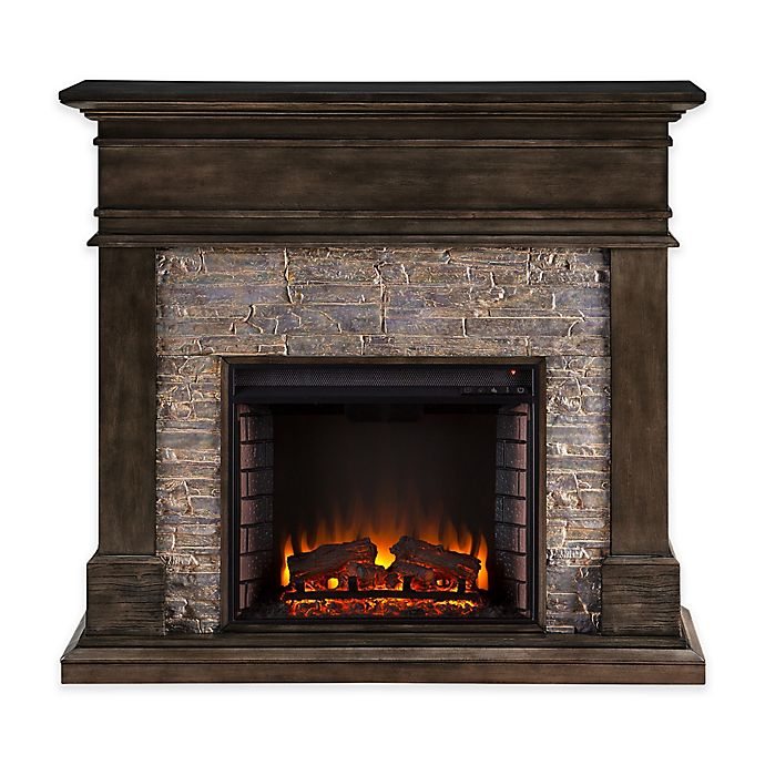 Alternate image 1 for Southern Enterprises Hennington Electric Media Fireplace in Smoked Ash