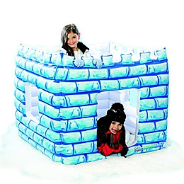 SnowCandy Inflatable Snow Castle in White