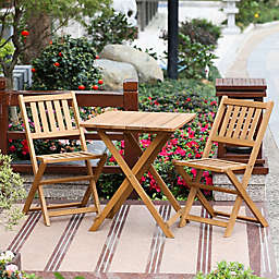 Winsome House 3-Piece Hemlock Bistro Set in Natural