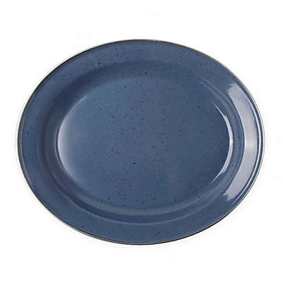 Bee & Willow™ Home Milbrook 16-Inch Enameled Serving Plate in Blue