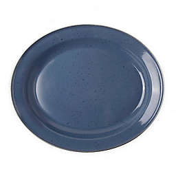Bee & Willow™ Home Milbrook 16-Inch Enameled Serving Platter in Blue