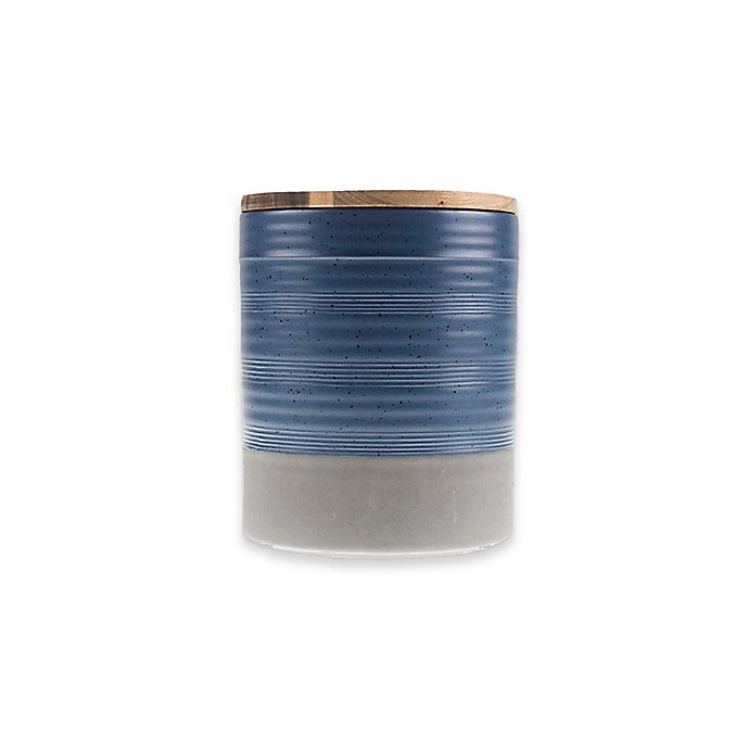Alternate image 1 for Bee & Willow™ Home Milbrook Small Canister in Blue