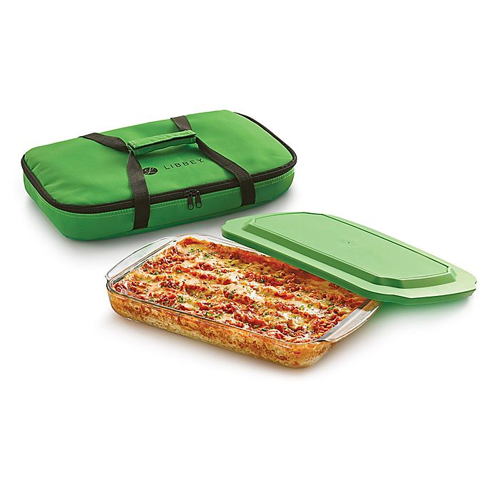 Alternate image 1 for Libbey® Glass Baker's Basic 4-Piece 9-Inch x 13-Inch Baking Dish Set in Green