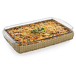 Libbey® Glass Baker's Basic 9-Inch x 13-Inch Baking Dish with Basket