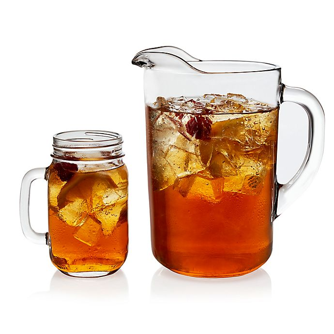 Alternate image 1 for Libbey® Glass Country Folk 7-Piece Sweet Tea Drinkware Set in Clear