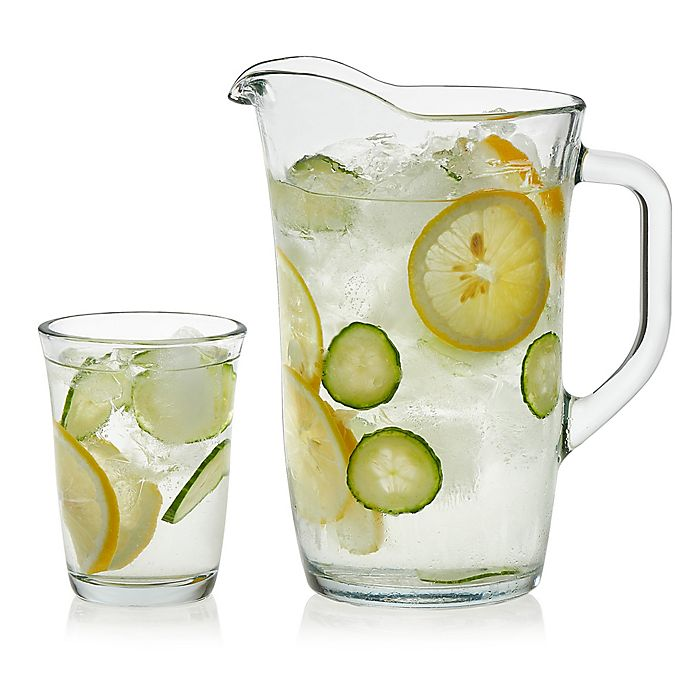 Alternate image 1 for Libbey® Glass Cosmos 5-Piece Drinkware Set in Clear