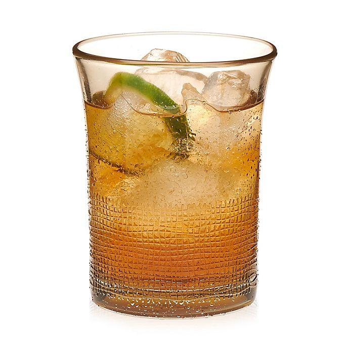 Alternate image 1 for Libbey® Glass Yute Tumbler Glasses in Gold (Set of 8)