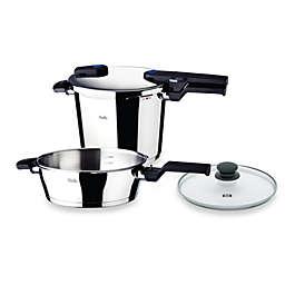 Fissler Vitaquick Quattro 8.5 qt. Pressure Cooker and 4.2 qt. Pressure Skillet Set with Glass Lid
