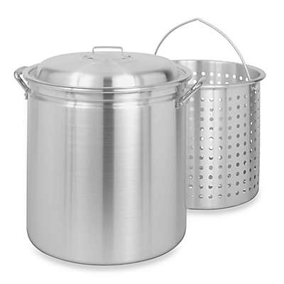 Bayou Classic® Aluminum Stock Pot with Basket and Vented Lid