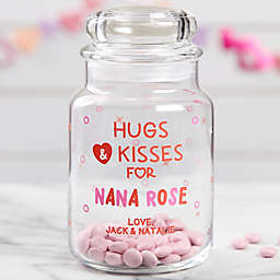 Hugs & Kisses Personalized Candy Jar