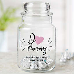 We Love...Personalized Glass Treat Jar for Her