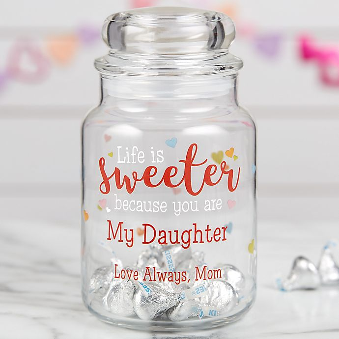 Alternate image 1 for You Make Life Sweet Personalized Candy Jar