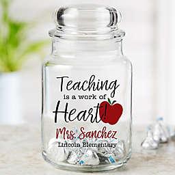 Inspiring Teacher Personalized Glass Treat Jar
