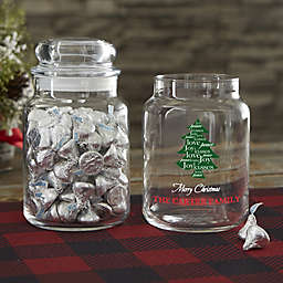 Happy Holiday with our Christmas Tree Personalized Candy Jar