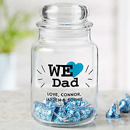 We Love...Personalized Glass Treat Jar for Him