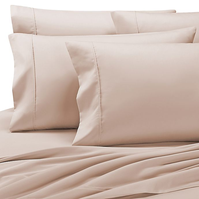 Alternate image 1 for Grand Manor 1000-Thread-Count Queen Sheet Set in Light Pink