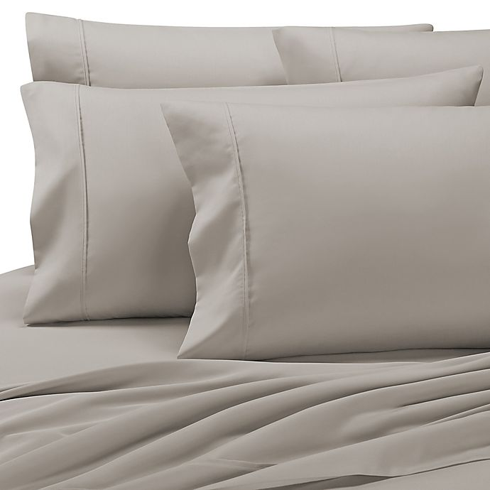 Alternate image 1 for Grand Manor 1000-Thread-Count Queen Sheet Set in Silver