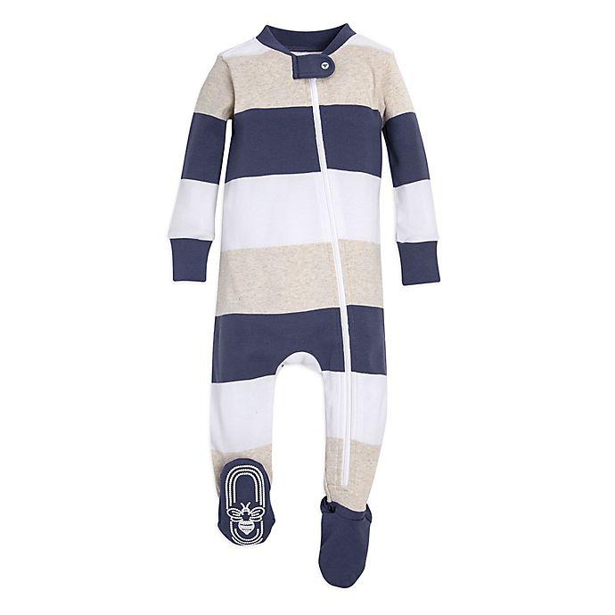 beaeedd81bd4 Burt s Bees Baby® Rugby Stripe Sleeper in Blue