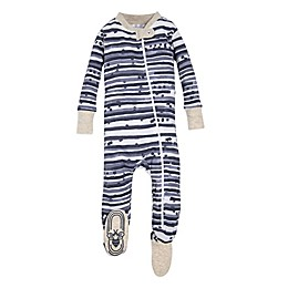 Burt's Bees Baby® Starry Stripes Sleeper in Blue