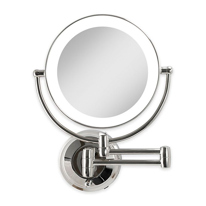 Zadro Dual Sided Round Led Lighted Wall Mount Mirror