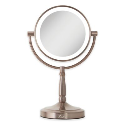 Zadro 10x 1x Cordless Led Lighted Vanity Mirror In Bed