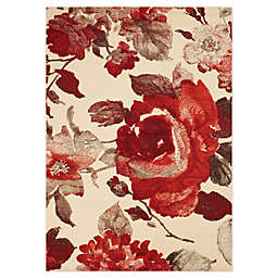 Novelle Home Floral Area Rug in Cream